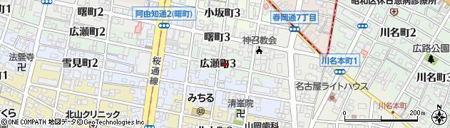 愛知県名古屋市昭和区広瀬町周辺の地図