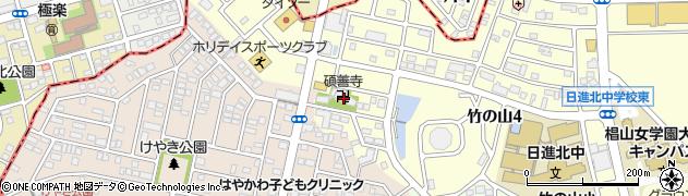 碩善寺周辺の地図