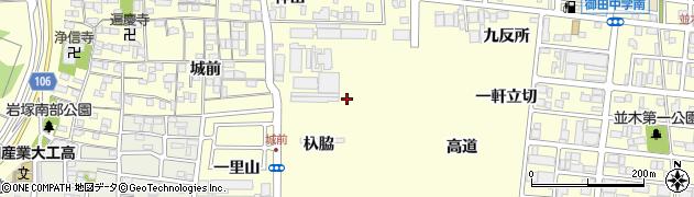 愛知県名古屋市中村区岩塚町(杁脇)周辺の地図