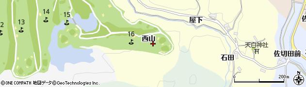 愛知県豊田市栃ノ沢町(西山)周辺の地図