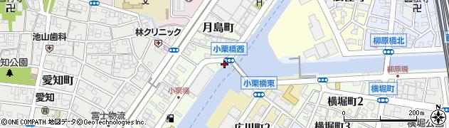 愛知県名古屋市中川区中川運河周辺の地図