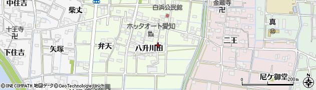 愛知県津島市白浜町(八升川田)周辺の地図