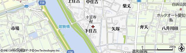 愛知県津島市百町(下住吉)周辺の地図