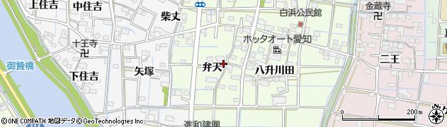 愛知県津島市白浜町(弁天)周辺の地図