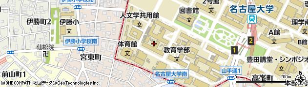 愛知県名古屋市千種区宮東町周辺の地図