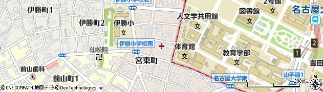 愛知県名古屋市昭和区宮東町周辺の地図
