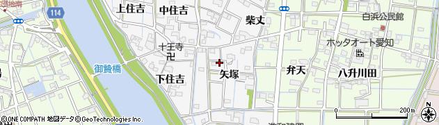 愛知県津島市百町(矢塚)周辺の地図