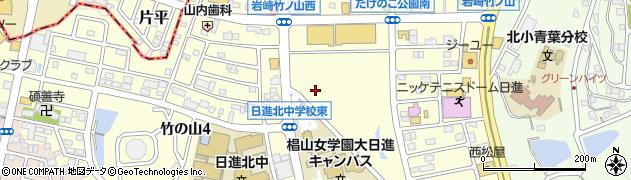 愛知県日進市竹の山周辺の地図