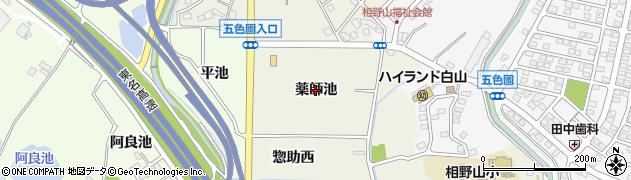 愛知県日進市北新町(薬師池)周辺の地図