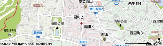愛知県名古屋市名東区扇町周辺の地図