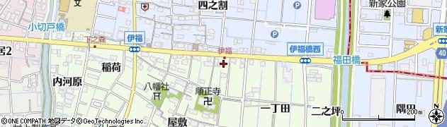 愛知県あま市七宝町下之森郷東周辺の地図