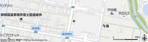 静岡県富士市今泉周辺の地図