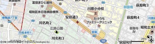 愛知県名古屋市昭和区安田通周辺の地図