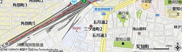 愛知県名古屋市中川区三ツ池町周辺の地図
