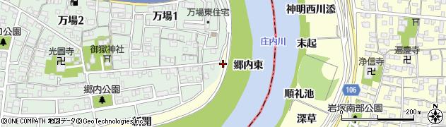 愛知県名古屋市中川区富田町大字万場(郷内東)周辺の地図