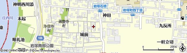 愛知県名古屋市中村区岩塚町周辺の地図