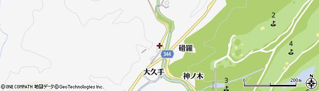 愛知県豊田市中立町(大久手)周辺の地図