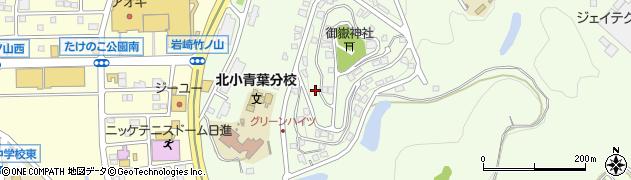 愛知県日進市岩崎町(竹ノ山)周辺の地図