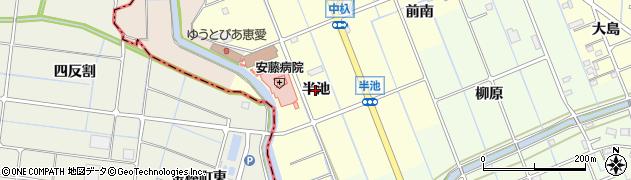 愛知県津島市唐臼町(半池)周辺の地図