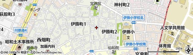 愛知県名古屋市昭和区伊勝町周辺の地図