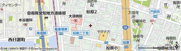 愛知県名古屋市中区松原周辺の地図