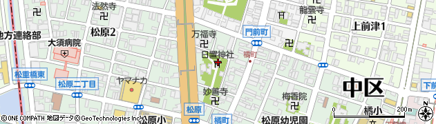日置神社周辺の地図