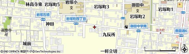 愛知県名古屋市中村区岩塚町竜子田周辺の地図