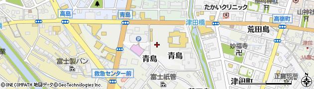 静岡県富士市青島周辺の地図