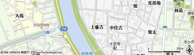 愛知県津島市百町(上住吉)周辺の地図