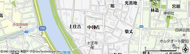 愛知県津島市百町(中住吉)周辺の地図