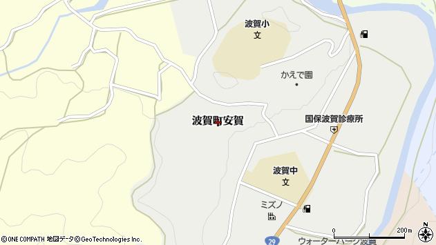 〒671-4241 兵庫県宍粟市波賀町安賀の地図
