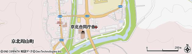 京都府京都市右京区京北周山町(上寺田)周辺の地図