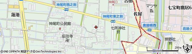 愛知県津島市神尾町(東之割)周辺の地図