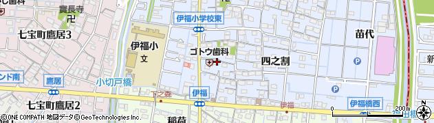 愛知県あま市七宝町伊福(参之割)周辺の地図