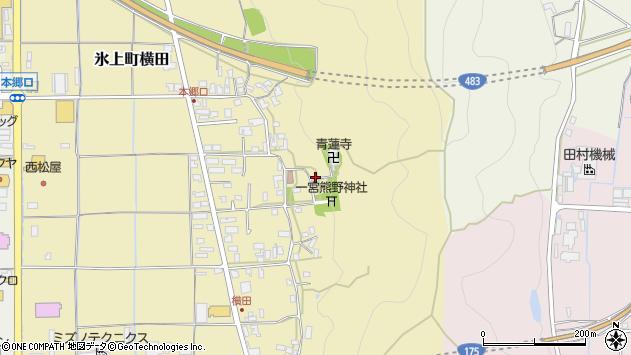 〒669-3465 兵庫県丹波市氷上町横田の地図