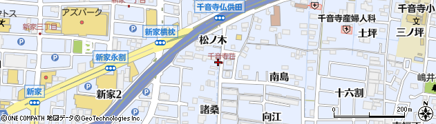 愛知県名古屋市中川区富田町大字千音寺(松ノ木)周辺の地図