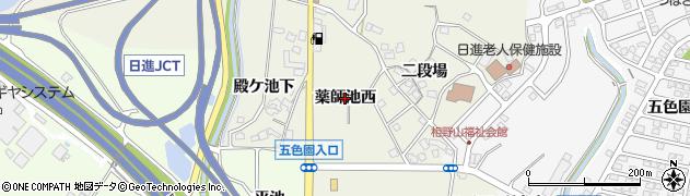 愛知県日進市北新町(薬師池西)周辺の地図
