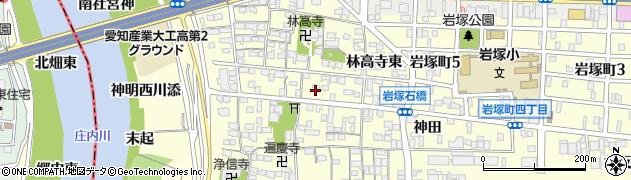 愛知県名古屋市中村区岩塚町(林高寺東)周辺の地図