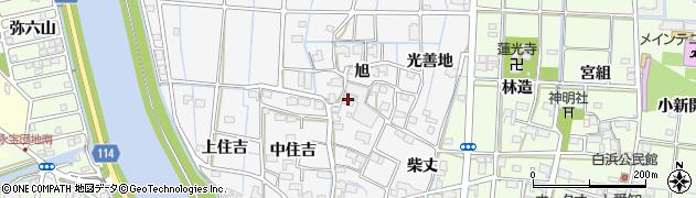 愛知県津島市百町(旭)周辺の地図