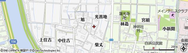 愛知県津島市百町(光善地)周辺の地図