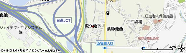 愛知県日進市北新町(殿ケ池下)周辺の地図