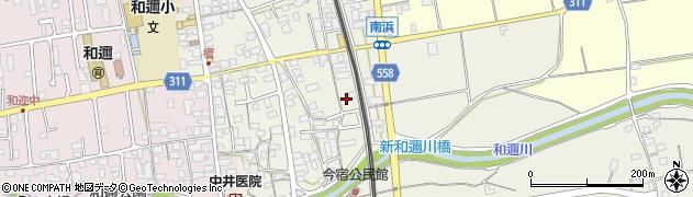 滋賀県大津市和邇今宿周辺の地図