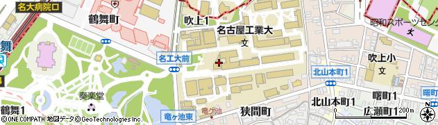 愛知県名古屋市昭和区御器所町周辺の地図