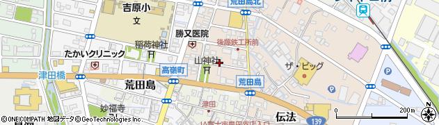 静岡県富士市荒田島町周辺の地図