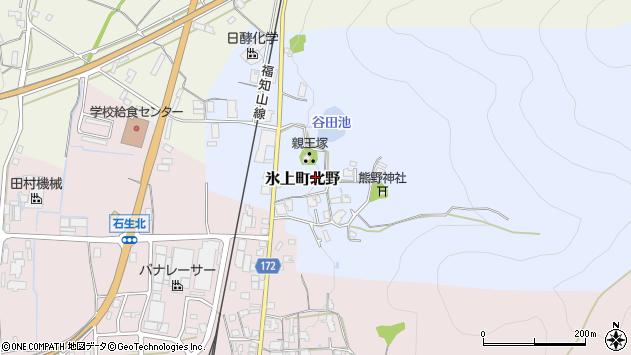 〒669-3463 兵庫県丹波市氷上町北野の地図