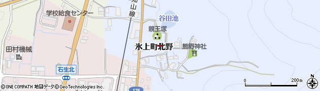 兵庫県丹波市氷上町北野周辺の地図