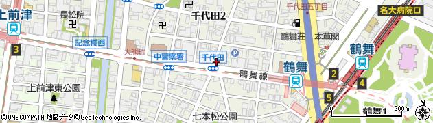 秋吉鶴舞店周辺の地図