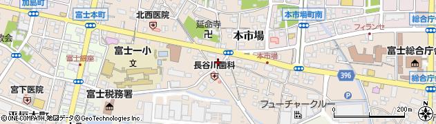 静岡県富士市本市場周辺の地図
