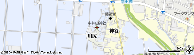 中神山神社周辺の地図