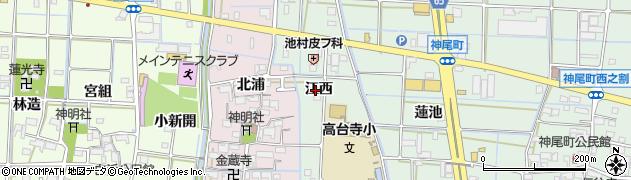 愛知県津島市神尾町(江西)周辺の地図
